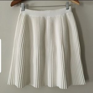 REBECCA TAYLOR White pleated skirt
